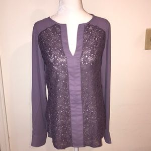 NWT The Limited Blouse w/ Lace Detail - Sz XS